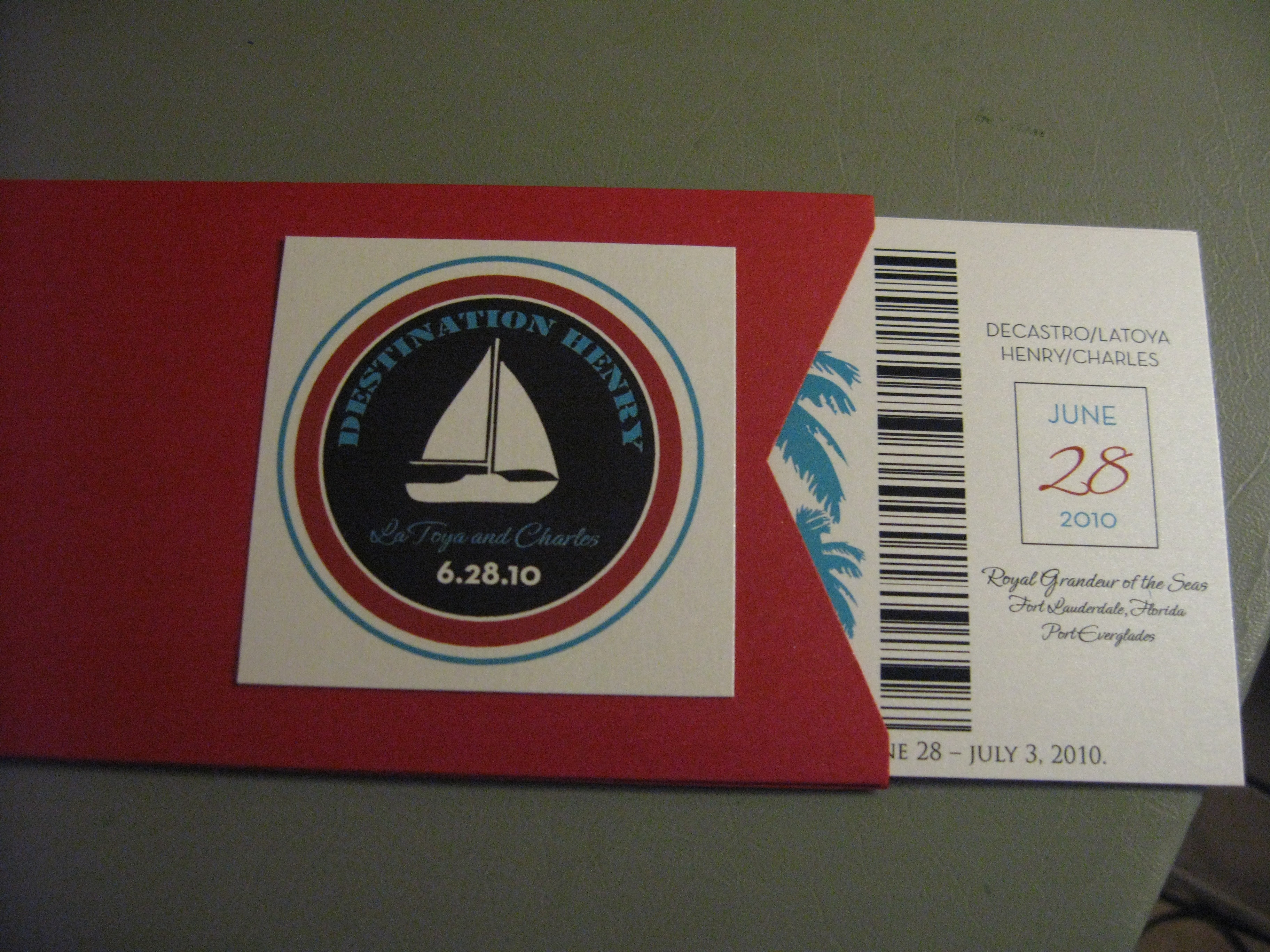 Boarding Pass Invitation | Paper Me Wonderful